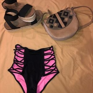 PINK Victoria's Secret Swim - High wasted PINK Victorias Secret Bottoms!